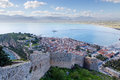 Nafplio view peloponnese greece is a seaport town in the in that has expanded up the hillsides near the north end of the argolic Royalty Free Stock Photos
