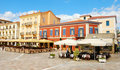 Nafplion square, greece Royalty Free Stock Images