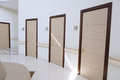 Naftalan, Azerbaijan - 20 July, 2015: interior of resort hotel Sanatorium, procedural waiting room Royalty Free Stock Photo