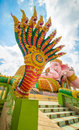 Naga with blue sky from thailand Royalty Free Stock Images