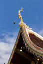 Naga lanna gable apex in wat raja mon thian chiangmai thailand Stock Photo