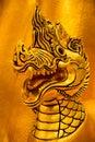 Naga is a mythical beast of asia Stock Photos