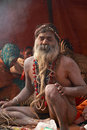 NAGA SADHU,HOLY MEN OF INDIA Royalty Free Stock Photography