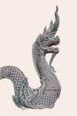 Naga sculptures Royalty Free Stock Photography