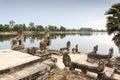 Naga at Srah Srang in Angkor Royalty Free Stock Photo