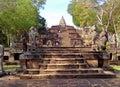 The Naga Staircase lead up to Prasat Hin Phanom Rung Ancient Khmer Temple, Thailand Royalty Free Stock Photo