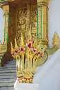 Naga statue at haw pha bang luang prabang laos Stock Photos