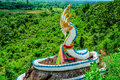 Naga statue landscape of in thailand Royalty Free Stock Image