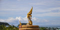 Naga statue at phuket beach in thailand Royalty Free Stock Photos