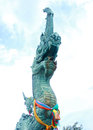 Naga statue thailand is the worship of the people in the mekong the latent beauty of art craft molding Royalty Free Stock Photo