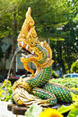 Naga statue was spray in the country of thailand Stock Photo