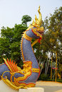 Naga thai art showing of traditional sculptured chiangrai thailand Stock Photos
