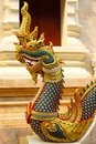 Naga thai art showing of traditional sculptured chiangrai thailand Royalty Free Stock Photo