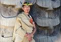 Naga tribal man with traditional headgear Royalty Free Stock Photo
