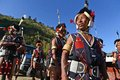 Naga warrior during the hornbill festival at nagaland Stock Images