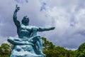 Nagasaki peace park statue atomic Stock Photo