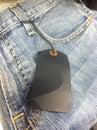 Nagelneue jeans Stockfotografie