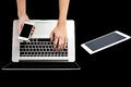 Nagelneuer smartphone laptop und tabletten pc Stockfotos