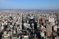 Nagoya aerial japan view of city in as seen from midland square tower Royalty Free Stock Images