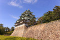 Nagoya castle japan atop a carved golden tiger fish head pair called king cha chi Royalty Free Stock Photo