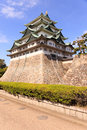 Nagoya castle japan atop a carved golden tiger fish head pair called king cha chi Stock Photos