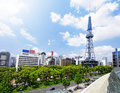 Nagoya downtown daytime japan city landmark skyline with tower Stock Images