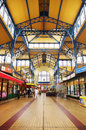 Nagycsarnok the greatest market hall in budapest hungary june inside largest and oldest on rd of june hungary Royalty Free Stock Photography