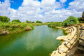 Nahal alexander nature reserve view of stream israel Stock Photos