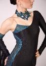 Nahaufnahme des Berufstänzers im schönen Kleid Lizenzfreies Stockbild