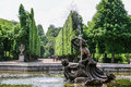 Naiad fountain in the garden of schonbrunn palace vienna Stock Images