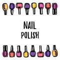 Nail polish background