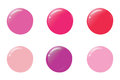 Nail polish drops different trendy colors for beauty salon banners, web, materials design.