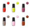 Nail polish icon set Royalty Free Stock Image