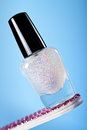 Nail Polish Sparkles Stock Photography