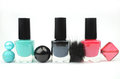 Nail polish three on white Royalty Free Stock Image