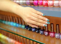 Nail polish. Varnish set Royalty Free Stock Images