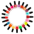 Nail polish on white background Royalty Free Stock Photo