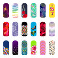 Nail set of art designs for beauty salon Stock Photography