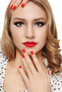 Nails and lips Royalty Free Stock Photos