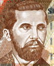 Naim frasheri on leke banknote from albania albanian poet and writer Stock Image