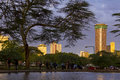 Nairobi city views of downtown kenya s capital with the kenyatta international conference centre in aglow in the evening light Royalty Free Stock Photography