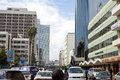 Nairobi kenya december unidentified people go about their business in the modern african city of Stock Photos