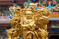Naja the golden statues of Chinese gods Royalty Free Stock Image