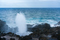 Nakalele Blowhole on north coast of Maui erupts Royalty Free Stock Photo