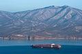 Nakhodka. Russia -January 06, 2017: Container ship ZIM Haifa standing on the roads at anchor. Royalty Free Stock Photo