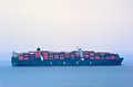 Nakhodka. Russia - May 29, 2015: Container ship Cochrane standing on the roads at anchor. Royalty Free Stock Photo