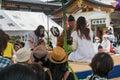 Naki zumo cry baby sumo at gokoku jinja shrine hiroshima japan may hiroshima japan is for celebrate children's day by Stock Photos