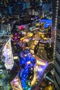 Namba parks top view, Osaka, Japan with City skyline Royalty Free Stock Photo
