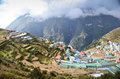 Namche Bazaar Himalayan village Royalty Free Stock Photo