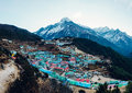 Namche Bazaar in Nepal Royalty Free Stock Photo